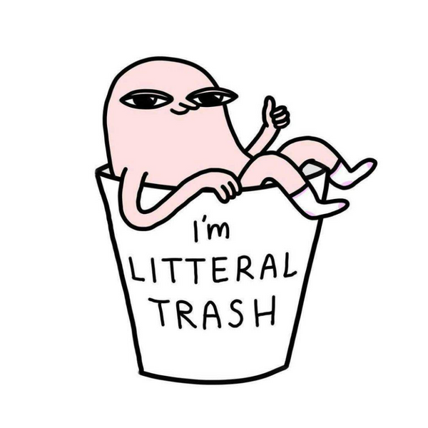 Pin -  I'm Literal Trash