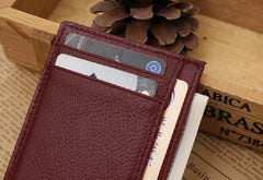 Ultra thin Mini Leather Credit Card Holder