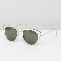 Mango Bercelona - Clear Cat Eye Sunglasses