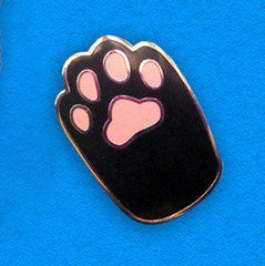 Pin - Black With Pink Cat Foot