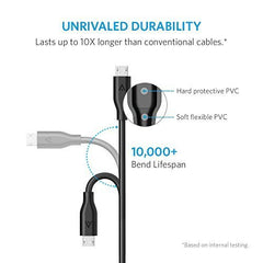 ANKER - Micro USB Cables ( 1ft) - android ( 4-pcs)