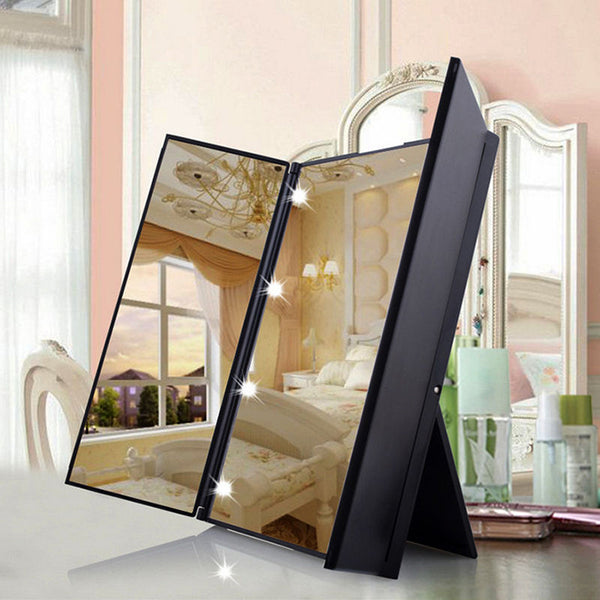 Folding Mirror with Lights