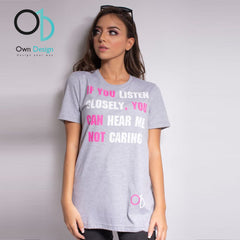 OWN DESIGN - T shirt Listen Closely