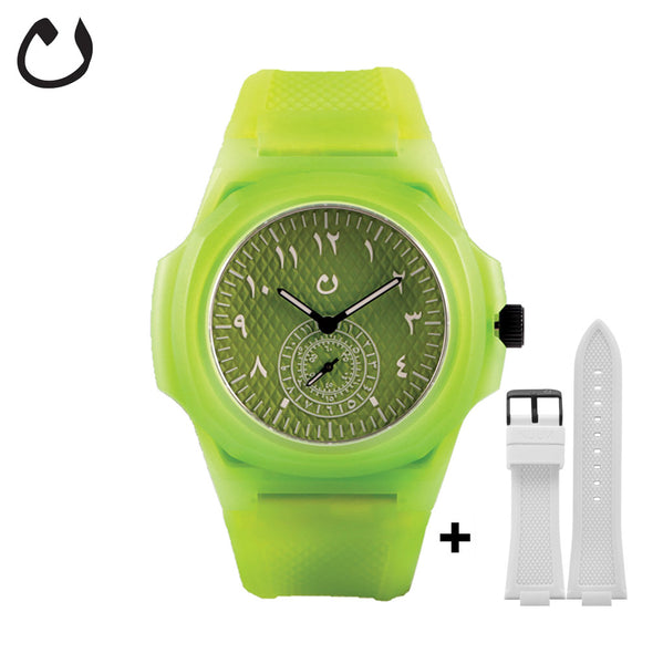 Nuun - Watch TCA - Lime  with two Straps