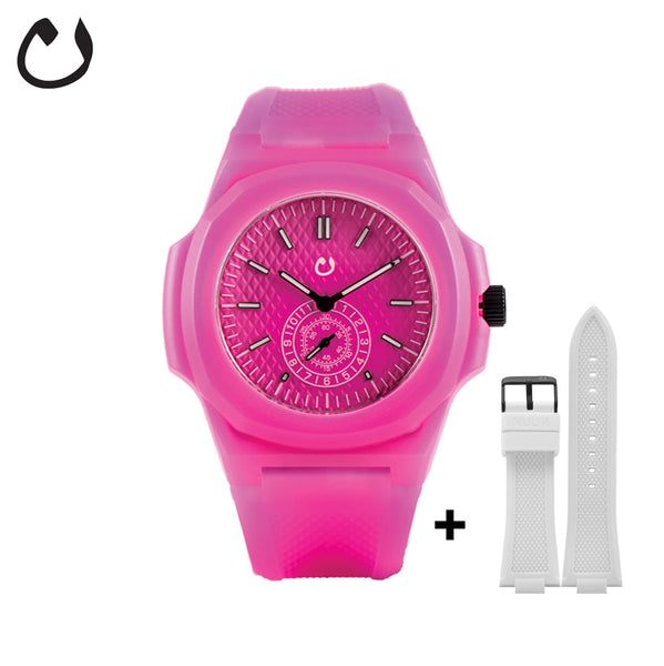 Nuun - Watch TCI - Fuscia with two straps