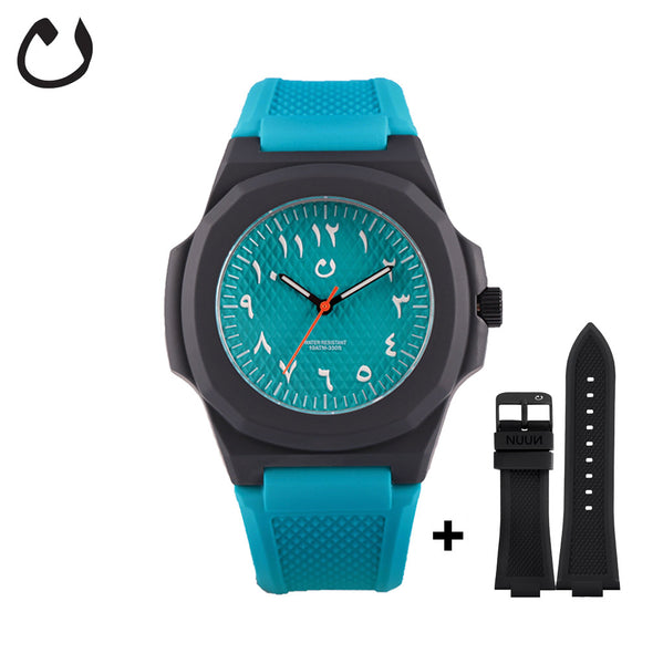 Nuun - Watch SCA - Turquoise with two straps