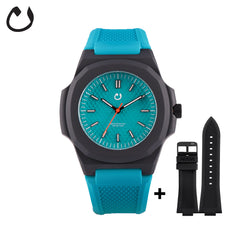 Nuun - Watch SCI - Turquoise with two straps