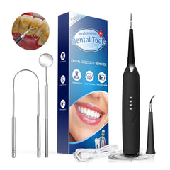 iFanze - Portable Electric Sonic Dental Scaler and cleaning tools - 5 pcs