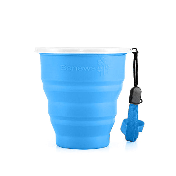 BNEWS - Collapsible Travel Mug - Blue