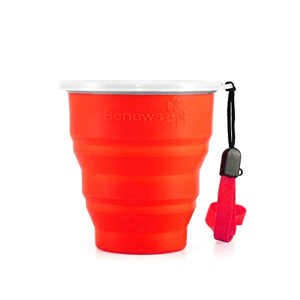 BNEWS - Collapsible Travel Mug - Red