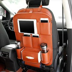 Car Back Seat Foldable Table - Brown