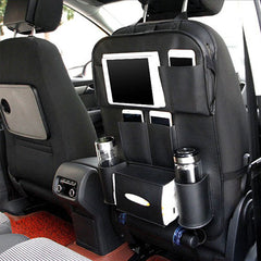 Car Back Seat Foldable Table - Black
