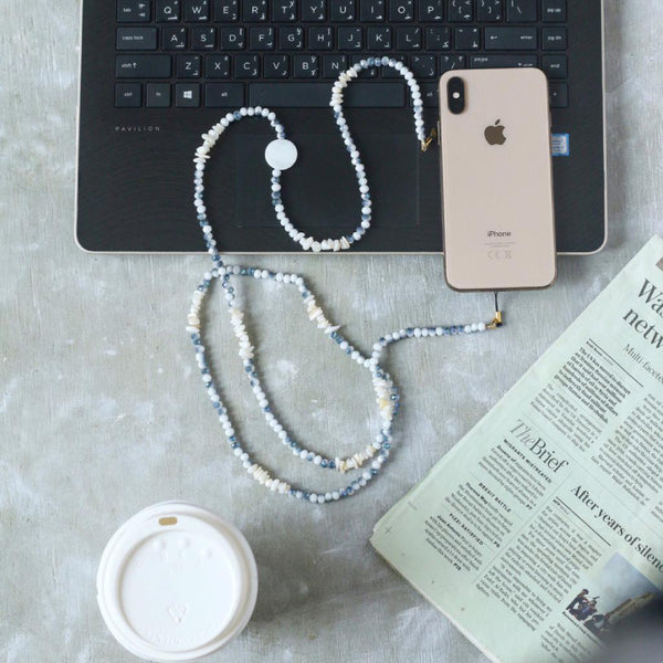 Chain for phones - Blue/ White