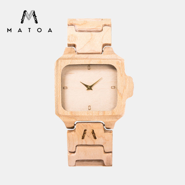 MATOA - Flores Watch / Maple Wood