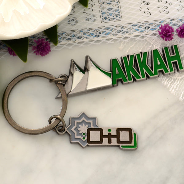 ROMNAH - Keychain Meina camps - Silver / white / green