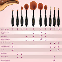 Professional Makeup Brush Set ( 10 pcs )