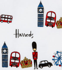 HARRODS - London Icons Print Hat And Mittens Se