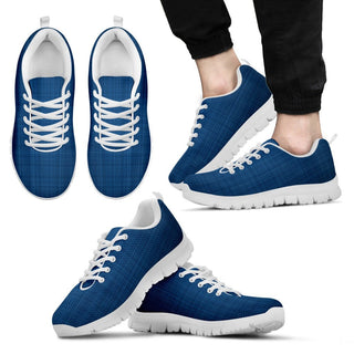 Blue Linen Sneakers - WishKix