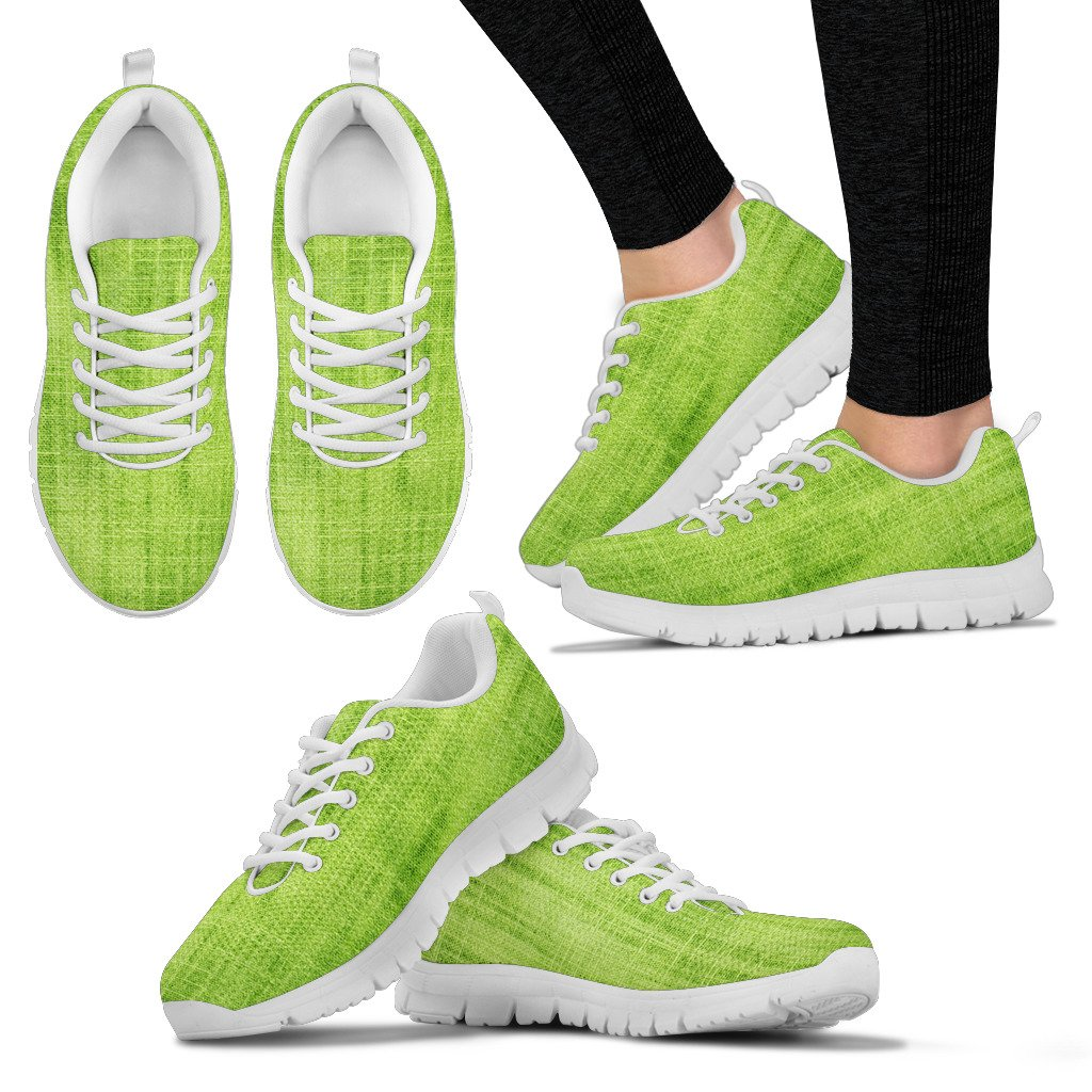 Green Fabric Sneaker for Women