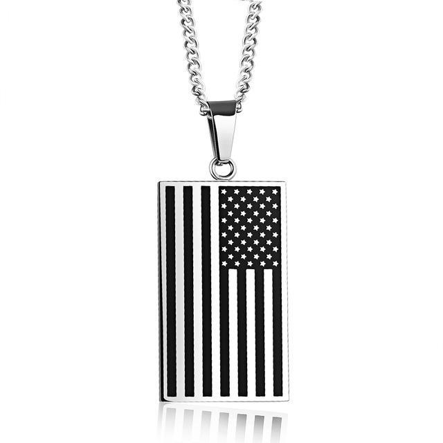 American Flag Necklace - WishKix