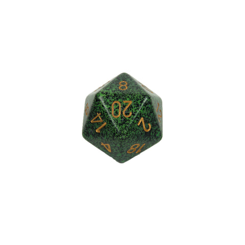 Chessex CHXXS2002 Golden Recon™ Speckled 34mm d20 single