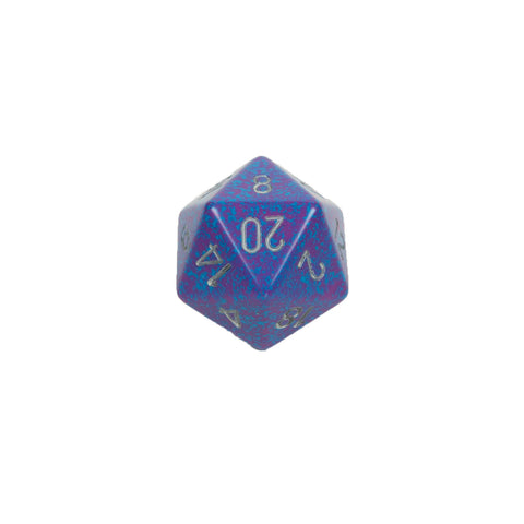 Chessex CHXXS2004 Silver Tetra™ Speckled 34mm d20 single