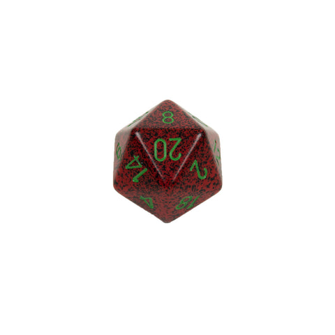 Chessex CHXXS2035 Strawberry™ Speckled 34mm d20 single