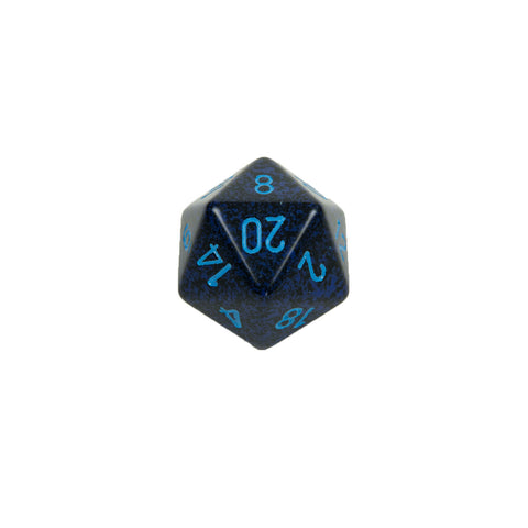 Chessex CHXXS2053 Cobalt™ Speckled 34mm d20 single