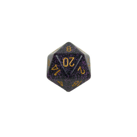 Chessex CHXXS2064 Hurricane™ Speckled 34mm d20 single