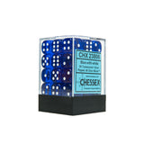 Chessex CHX23806 36 Blue w/ white Translucent 12mm d6 Dice Block