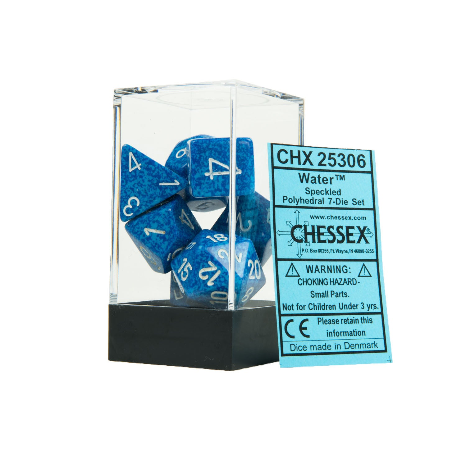 Chessex CHX25306 Water™ Speckled Polyhedral Dice Set