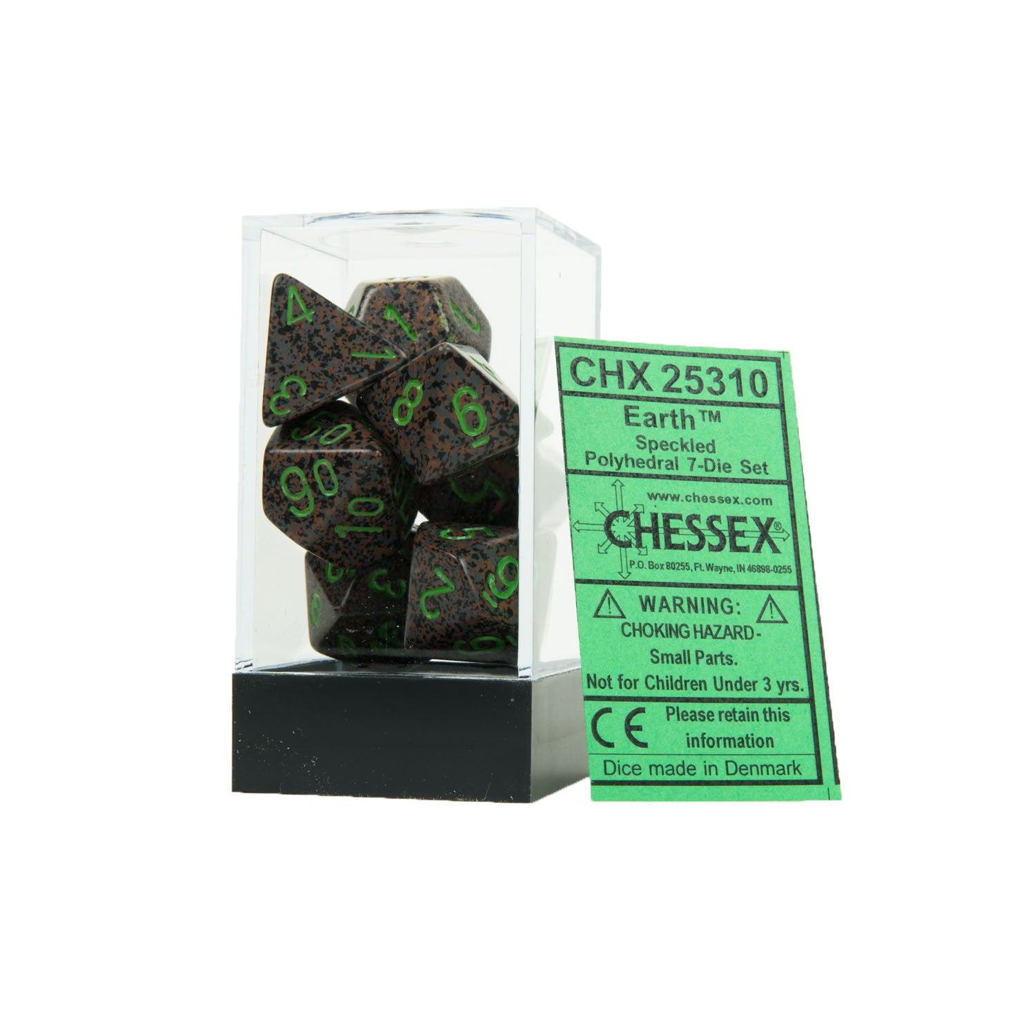 Chessex CHX25310 Earth™ Speckled Polyhedral Dice Set