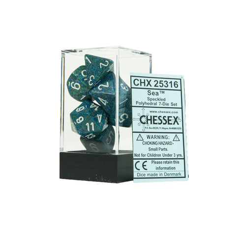 Chessex CHX25316 Sea™ Speckled Polyhedral Dice Set