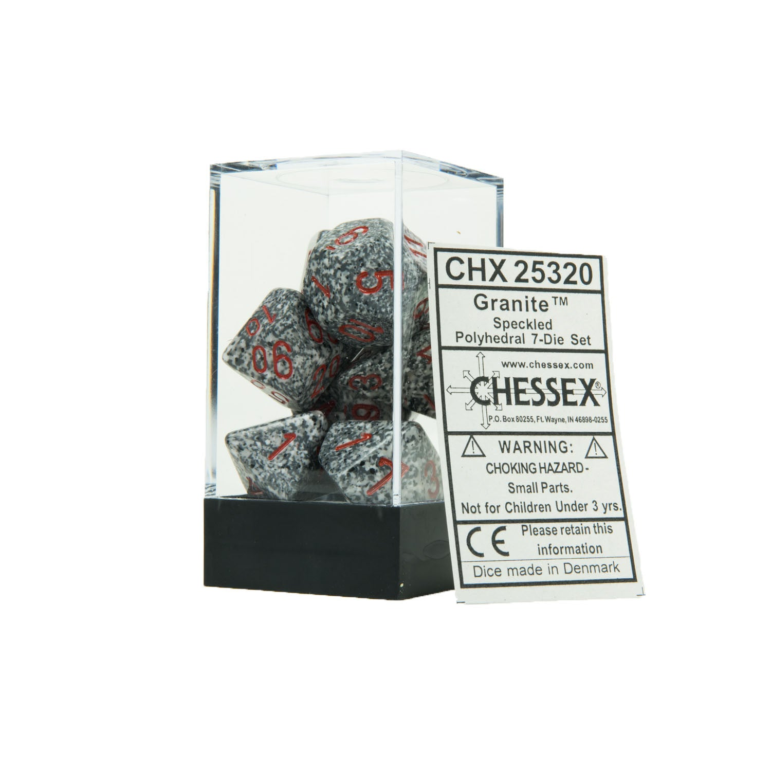 Chessex CHX25320 Granite™ Speckled Polyhedral Dice Set