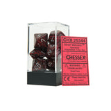 Chessex CHX25344 Silver Volcano™ Speckled Polyhedral Dice Set
