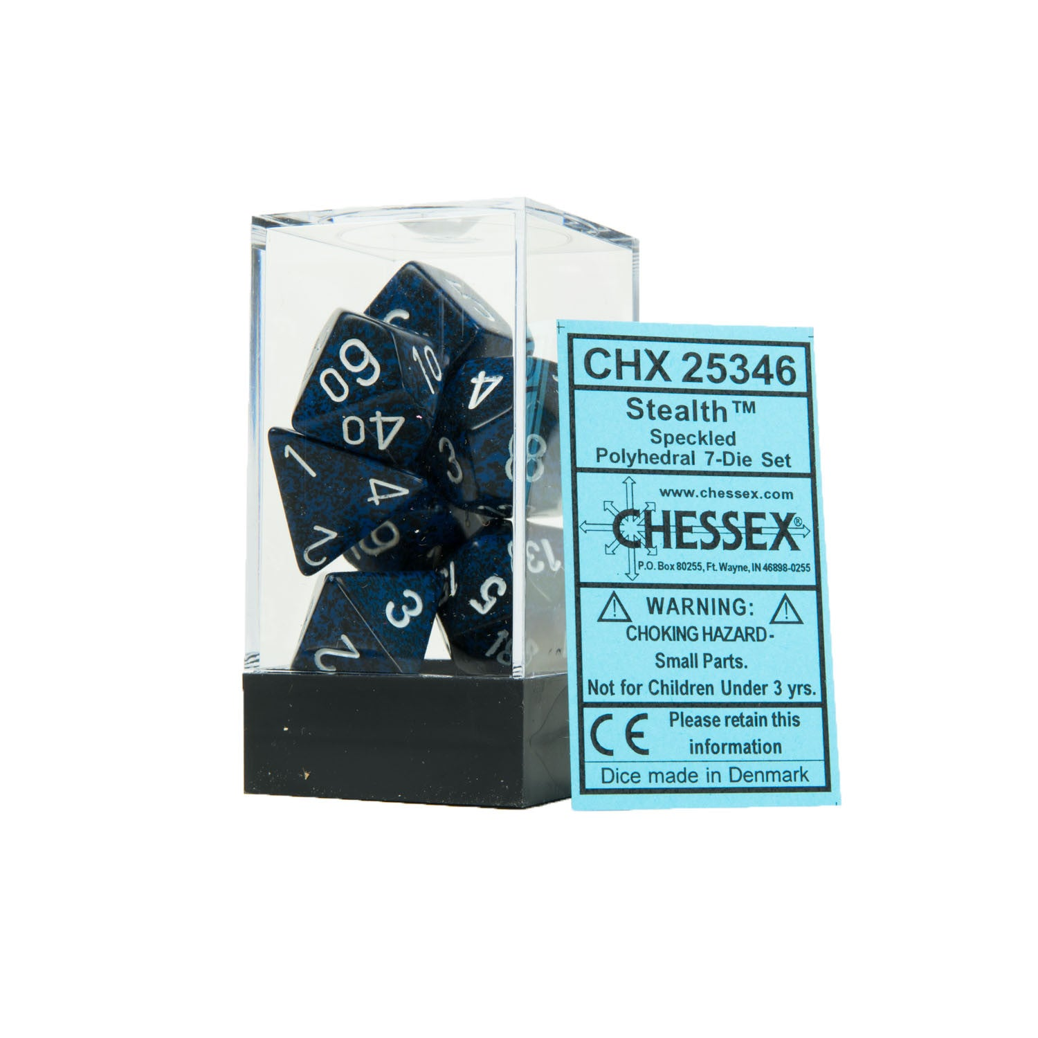 Chessex CHX25346 Stealth™ Speckled Polyhedral Dice Set