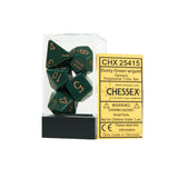 Chessex CHX25415 Opaque Dusty Green w/gold Polyhedral Dice Set