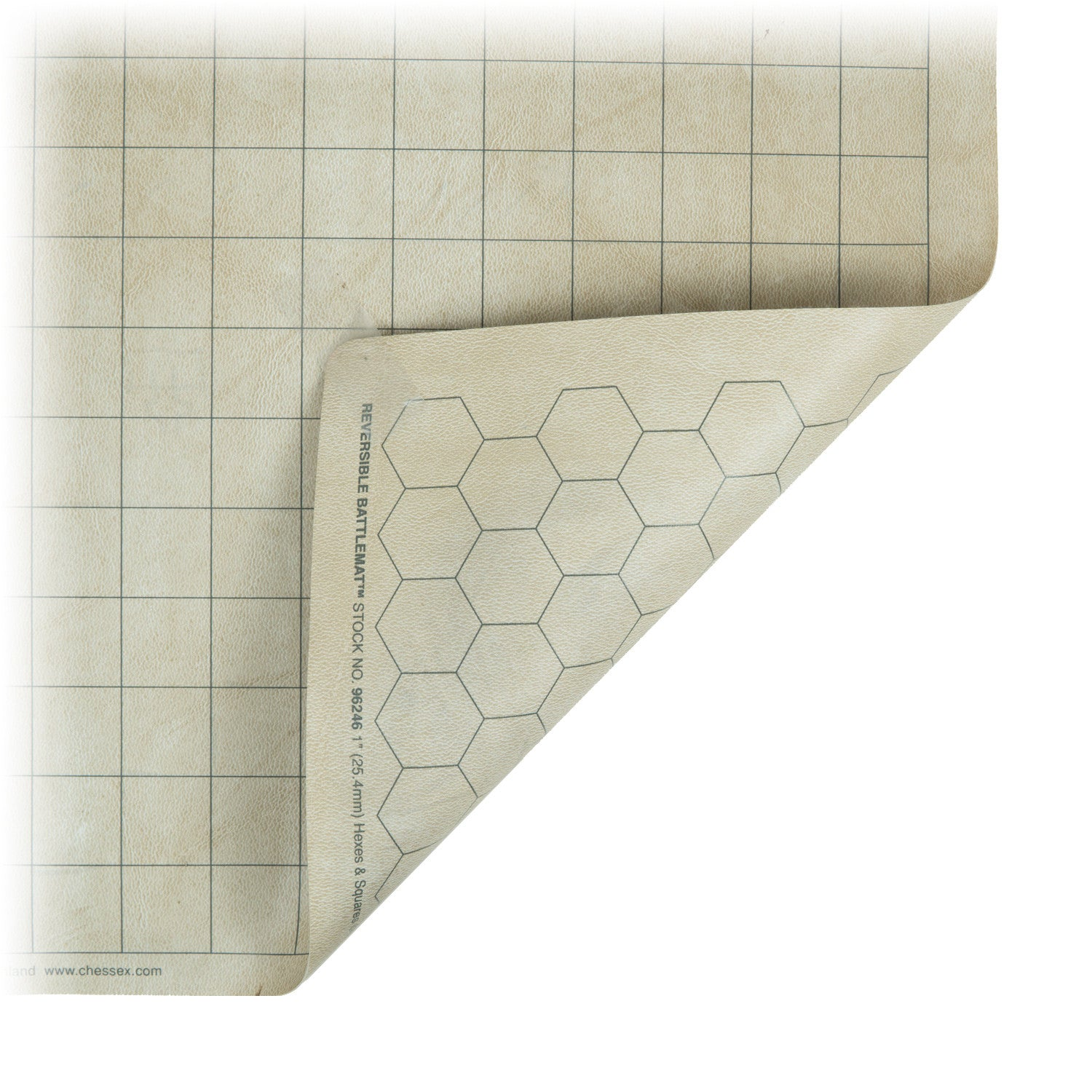 "Chessex Reversible Battlemat 1.5"" square/hex"