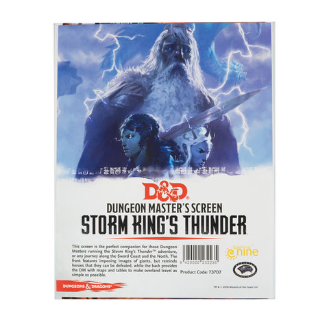 D&D 5e Storm King's Thunder DM Screen