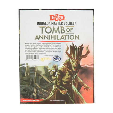 D&D 5e Tomb of Annihilation DM Screen