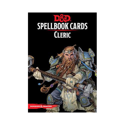 D&D 5th Edition Spellbook Cards - Cleric