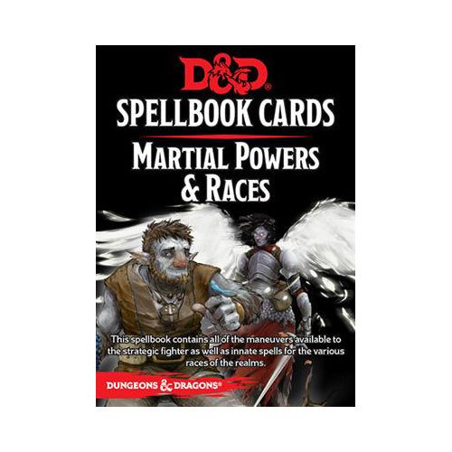 D&D 5th Edition Spellbook Cards - Martial Powers & Races