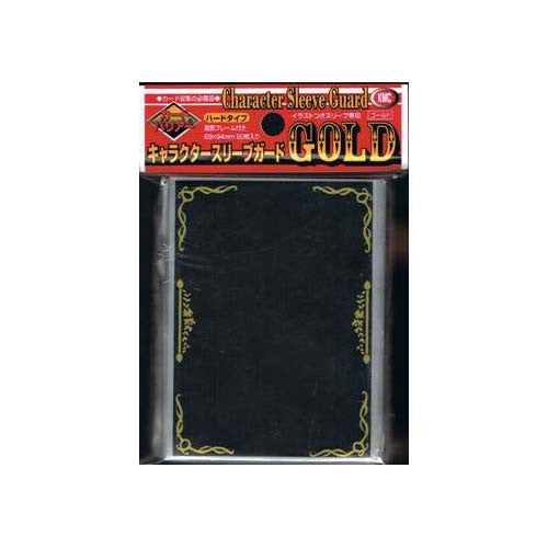 KMC Character Sleeve Guard Clear with Gold (60)