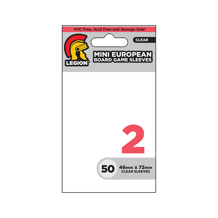 Legion Board Game Sleeves - Mini European Clear (50)