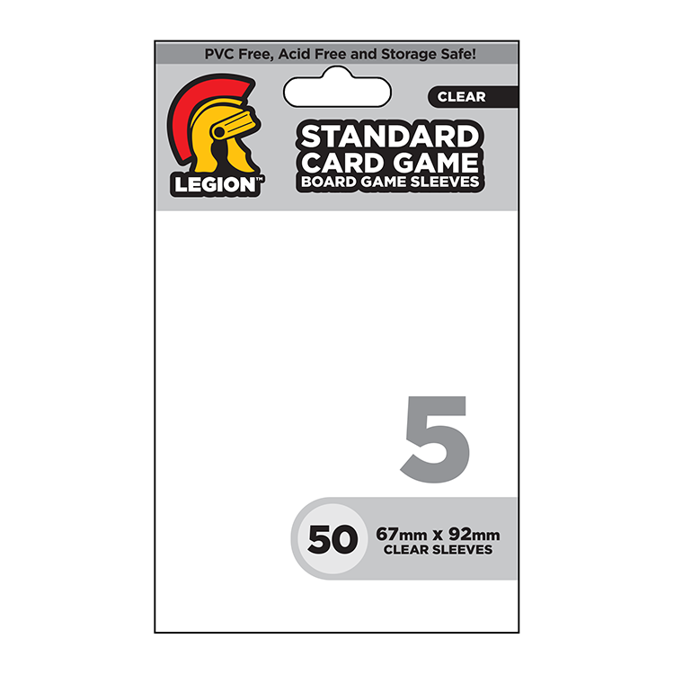 Legion Board Game Sleeves - Standard Card Game Clear (50)
