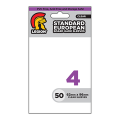 Legion Board Game Sleeves - Standard European Clear (50)