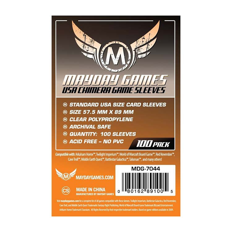 Mayday MDG-7044 USA Chimera Card Sleeves (100)