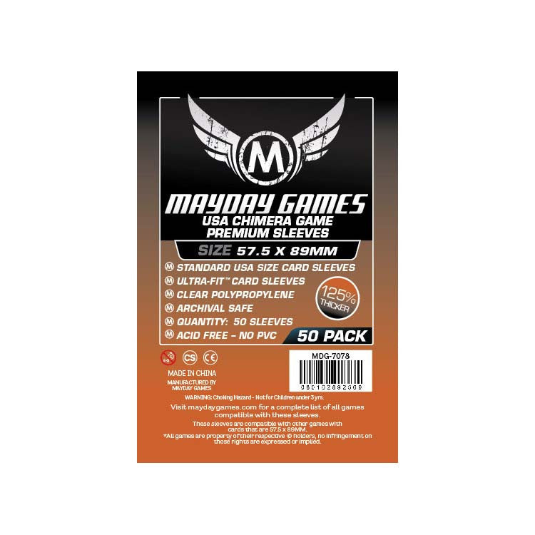 Mayday MDG-7078 USA Chimera Premium Card Sleeves (50)