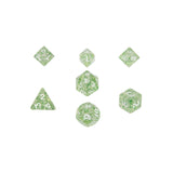 MDG 4205 Ethereal Green w/ White Mini Polyhedral Dice Set