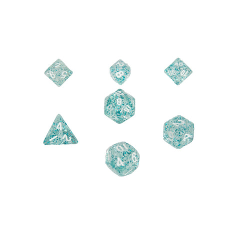MDG 4212 Ethereal Light Blue w/ White Mini Polyhedral Dice Set